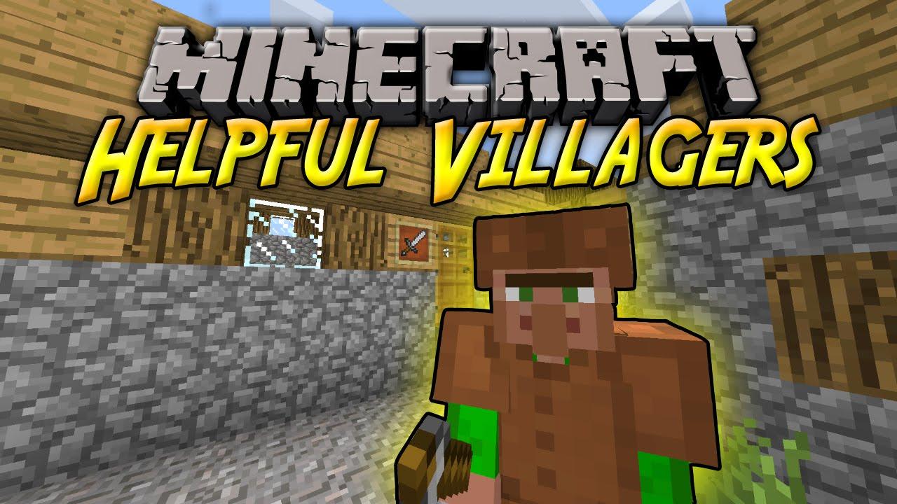 HELPFUL VILLAGERS Schlauere Dorfbewohner Mit Berufen - Minecraft dorfbewohner bauen hauser mod