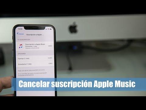 Cómo cancelar la suscripción de Apple Music