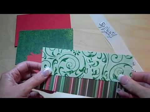 how to make a christmas card with cricut