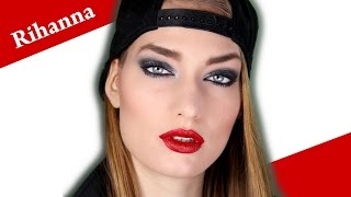 RIHANNA eye makeup tutorial VIVA GLAM inspired New Years Hot Look Thumbnail