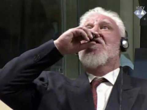 Slobodan Praljak kangaroo court suicide, war criminals rule
