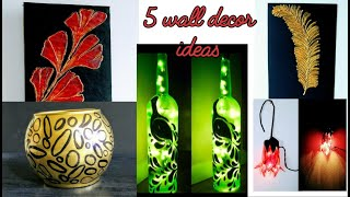 5 wall decor ideas / diy crafts / crafts / art and craft ideas /decoration / amazing pixies
