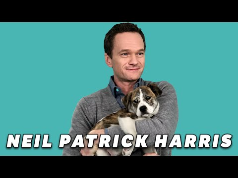 Neil Patrick Harris Plays With Puppies While Answering  Questions