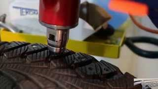 видео Ошиповка зимних шин и резины в спб