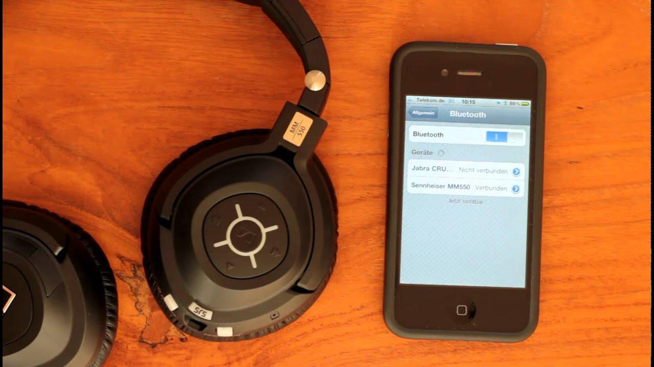 LoadBlog: Sennheiser MM 550 mit dem iPhone 4 verbinden