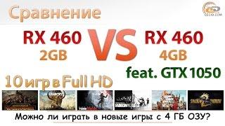 Сравнение на 4 ГБ DDR4-2400 и Pentium G4560: Radeon RX 460 2GB vs RX 460 4GB vs GeForce GTX 1050