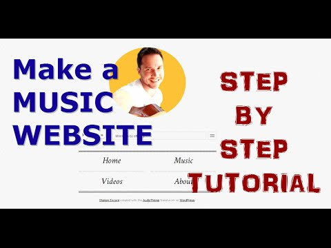 How To Create a Music Website. Step by Step Tutorial