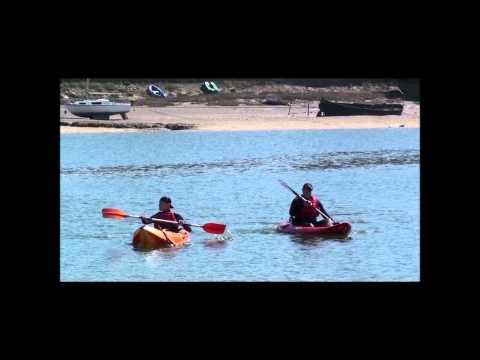 Kayaking in Bideford Bay With My Son Gary, North Devon, UK. 2012