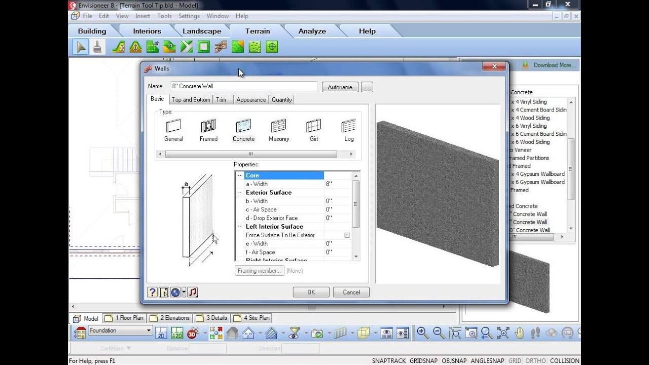 Cadsoft Tool Tip - Tin Terrain and Walkout Basements - YouTube