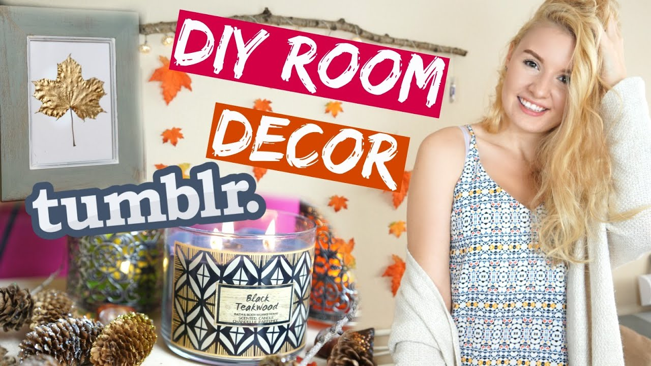 diy tumblr inspirierte deko ideen f r 39 s zimmer diy fall room decor youtube. Black Bedroom Furniture Sets. Home Design Ideas