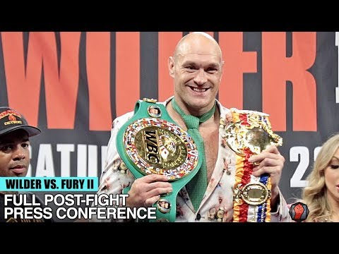 TYSON FURY'S FULL POST FIGHT PRESS CONFERENCE VS DEONTAY WILDER 2 - WILDER FURY 2 POST FIGHT