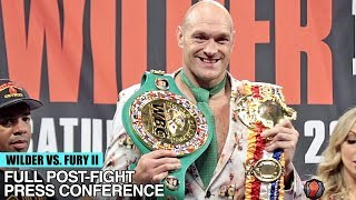Download TYSON FURY'S FULL POST FIGHT PRESS CONFERENCE VS DEONTAY WILDER 2 - WILDER FURY 2 POST FIGHT Mp3 and Videos