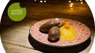 Lebkuchen Mousse mit Gewürz-Orangen