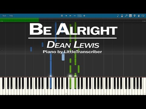 Dean Lewis - Be Alright (Piano Cover) Synthesia Tutorial by LittleTranscriber