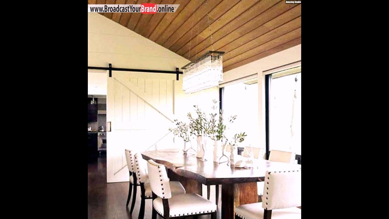Schiebetre Aus Holz Im Interieur Esszimmer Kche  YouTube