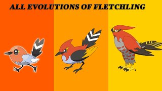Fletchling Evolution into Fletchinder and then into Talonflame in Pokémon Ultra Sun and Ultra Moon