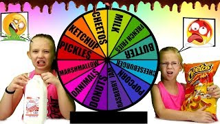 MYSTERY WHEEL OF Mix and Match Food Challenge!!!