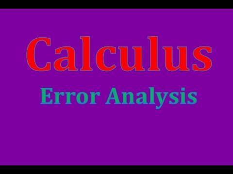 Calculus-Error Analysis
