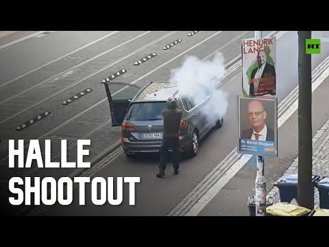 Halle's 'Nazi-killer' filmed during shootout with German police