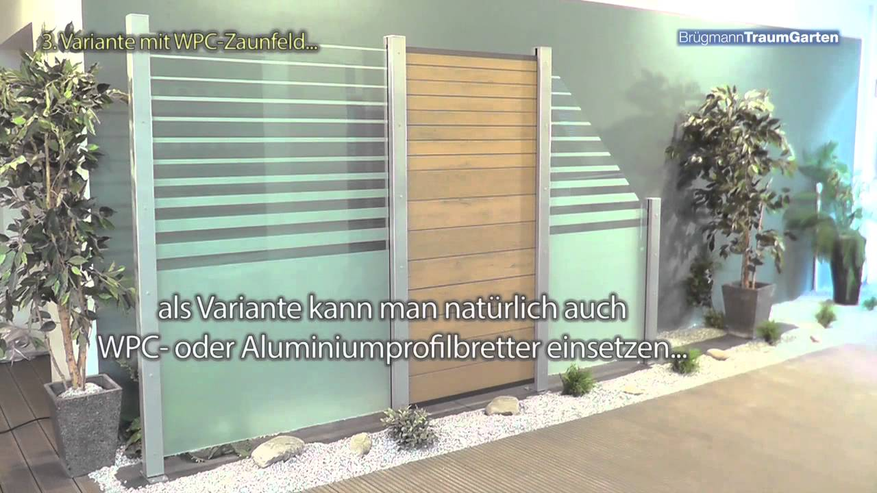 Sehr SYSTEM Glaszaun Bruegmann TraumGarten Montage Design - YouTube ND46