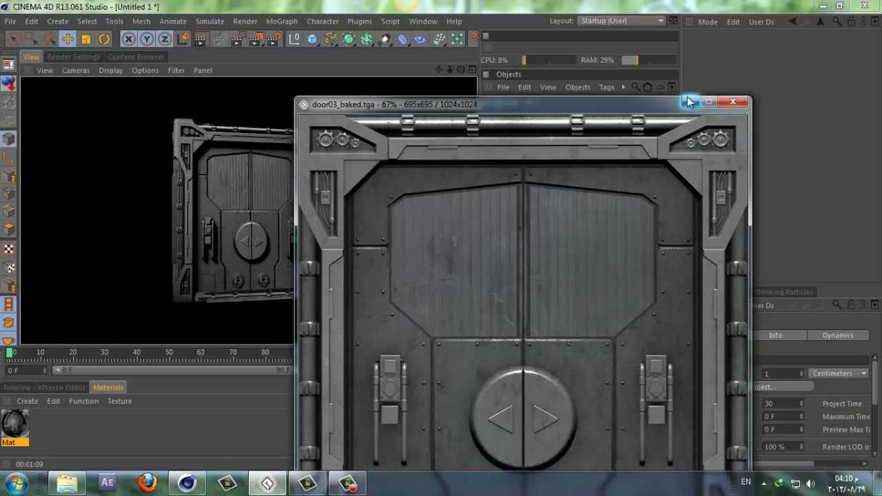 Model Sci Fi Door In 30 Sec Challenge Accepted