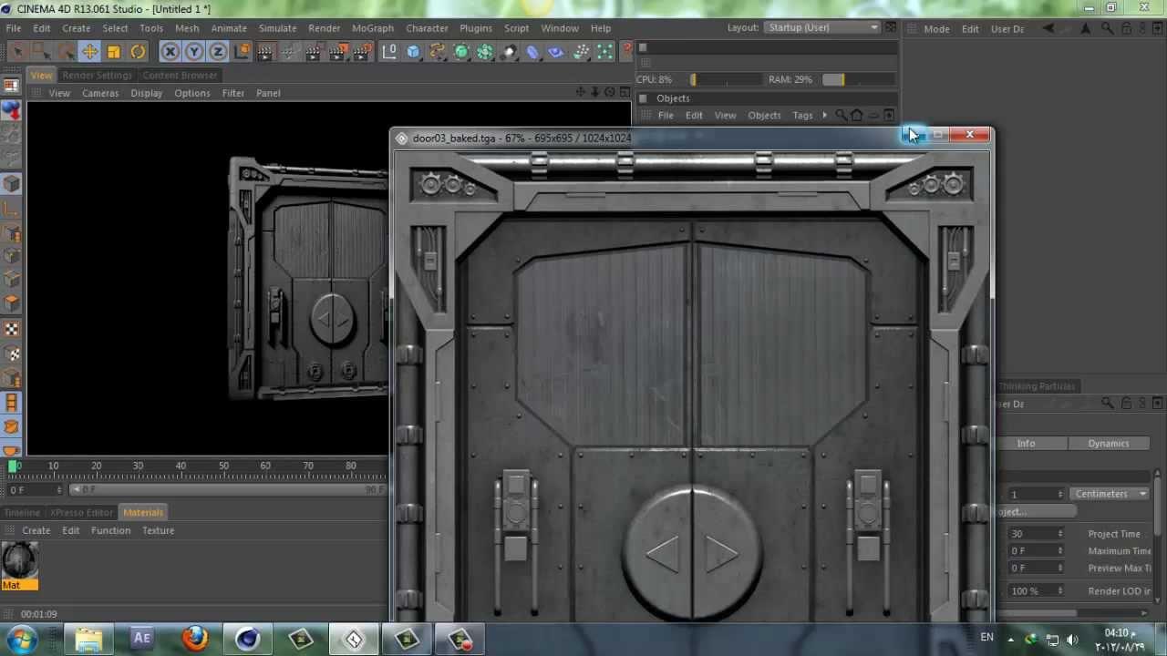 model sci-fi door in 30 sec - Challenge Accepted ...