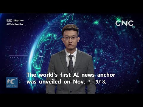 Xinhua AI news presenter makes him felt worldwide