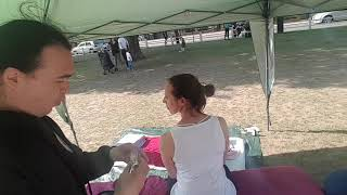 Outdoor back pain cupping therapy London