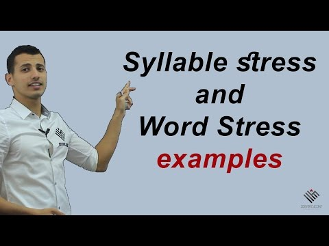 Syllable stress & Word Stress PRACTICING!