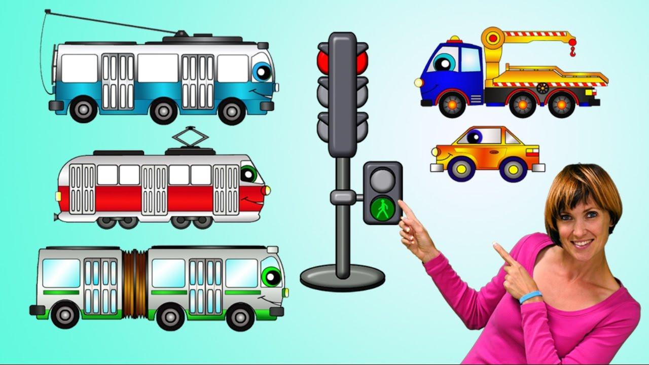 Мультики про машинки- ПДД, светофор и транспорт для детей ...