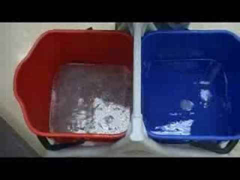 Clean Floors Using Double Bucket System Youtube