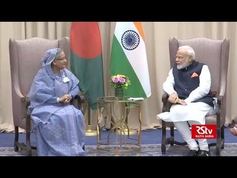 PM Modi meets PM Sheikh Hasina of Bangladesh