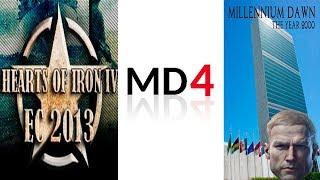 Hearts Of Iron IV Cравнение модов на современность EC2013 Millennium Dawn Modern Day 4