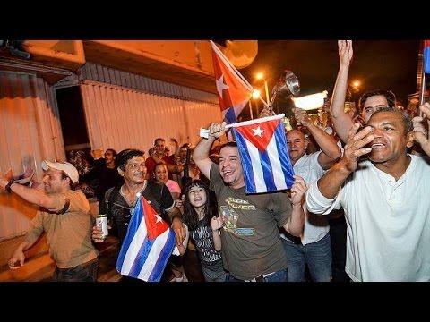 Celebrations in Miami's Little Havana in the wake of Fidel Castro's death