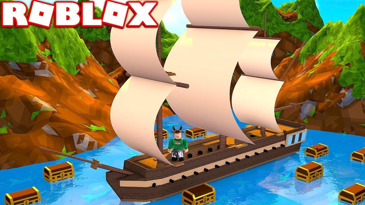 Download BUILDING A BOAT TO FIND TREASURE IN ROBLOX! (Roblox Treasure Simulator)