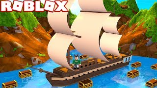 BUILDING A BOAT TO FIND TREASURE IN ROBLOX! (Simulateur de trésor Roblox)