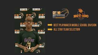 George Daniels Jr. Class of 2026 at Get Me Recruited Hot 100 Middle School.