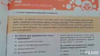 15 Haziran - 6.Sınıf Türkçe Dersi Metin Türleri ve Söz Sanatları Soru Çözümü