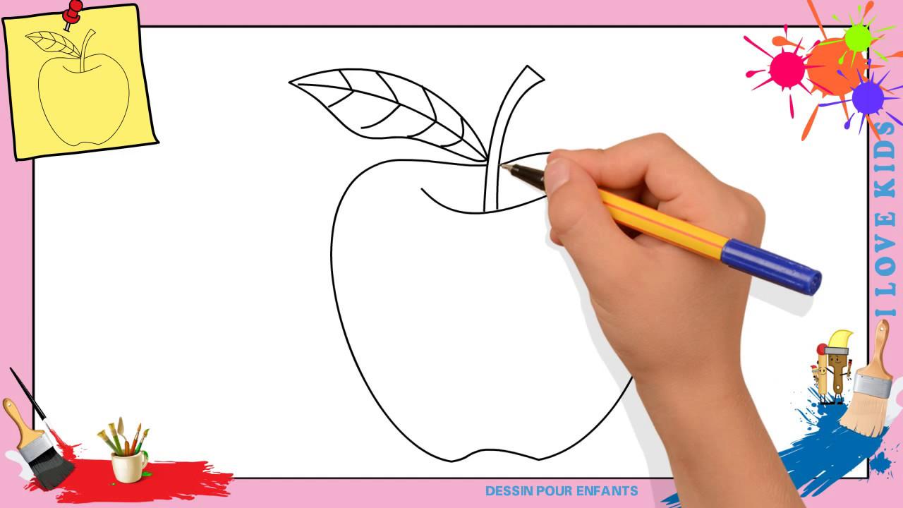 Dessin pomme comment dessiner une pomme facilement pour enfants youtube - Mettre une couette facilement ...