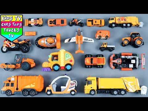 Learn Orange Color For Kids Children Babies Toddlers | Color