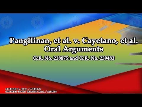 October 9, 2018 Oral Arguments on GR No. 238875 and GR No. 239483