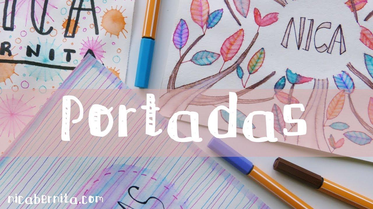 Dibujos Para Portadas De Cuaderno: PORTADAS Para DECORAR CUADERNOS, LIBRETAS Y AGENDAS