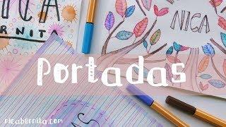 PORTADAS para DECORAR CUADERNOS, LIBRETAS y AGENDAS (Dibujo con rotuladores)