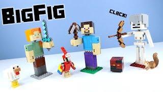 LEGO Minecraft BigFig Series 1 Steve Alex & Skeleton Build Review 2019