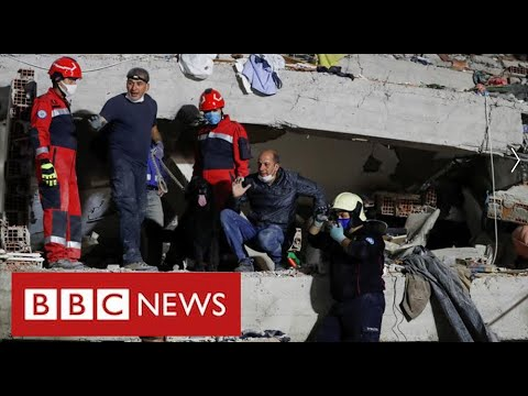 Desperate search for missing victims of earthquake in Turkey and Greek islands - BBC News