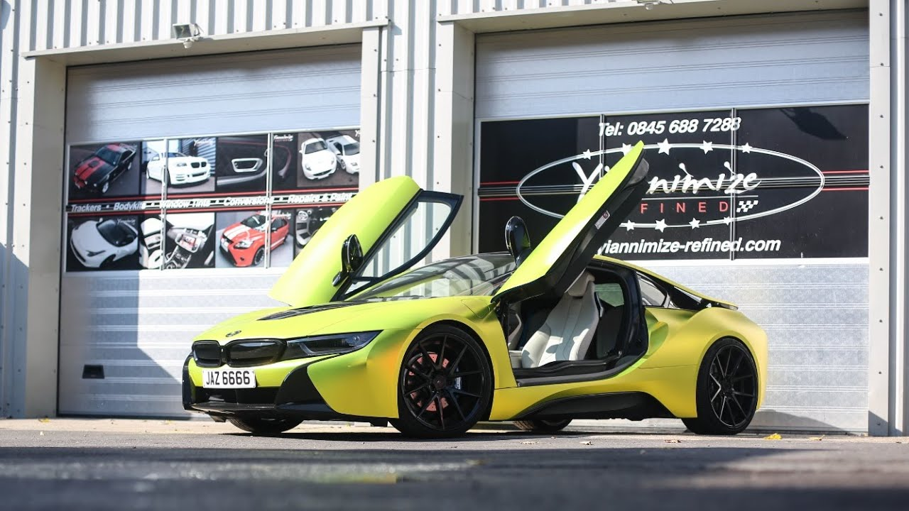 Bmw I8 Wrapped Satin Chrome Yellow Youtube