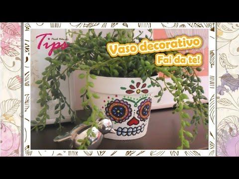 Vaso decorativo per piante fai da te diy videotips - Porta piante fai da te ...