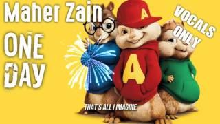 Maher Zain - One Day (Chipmunk Version - Vocals Only) | Lyrics Video
