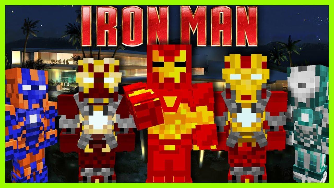 Minecraft SUPERHERO UNLIMITED MOD (WEAR EVERY IRON MAN SUIT EVER