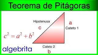 Encontrar la hipotenusa conociendo los catetos Teorema de Pitágoras 354